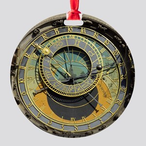 Prague Astronomy Clock Round Ornament
